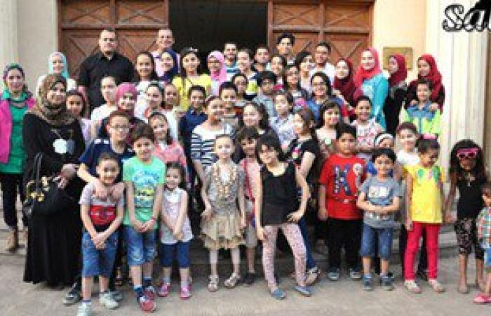 تحويل الأحداث التاريخية لأعمال مسرحية للأطفال بمكتبة حسن طوبار بالدقهلية