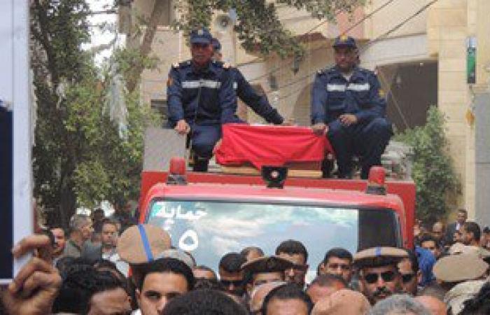 تشيع جنازة شهيد العريش بالقليوبية وإطلاق اسمه على أحد المدارس