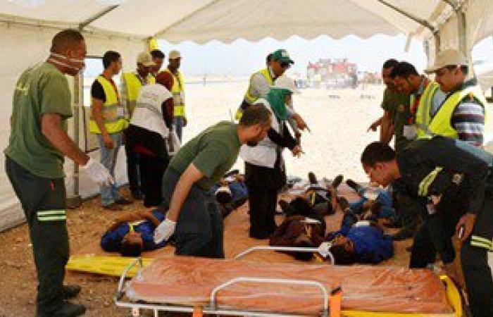"""بالصور.. محافظ سوهاج يشهد """"تجربة الطوارئ متسعة النطاق 2016"""" بالمطار"""