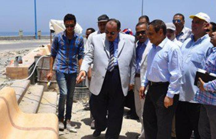 محافظ الإسكندرية يتفقد أعمال تطوير منطقة بئر مسعود لاستقبال المصطفين
