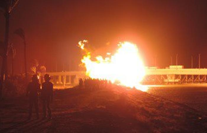 """حريق هائل بـ """"مصنع طوب"""" فى البحيرة لانفجار عدة اسطوانات غاز"""