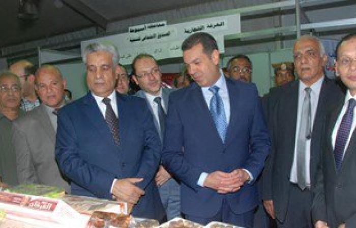 """بالصور.. محافظ أسيوط ومدير الأمن يفتتحان معرض """"أهلا رمضان"""" للسلع الغذائية المخفضة"""