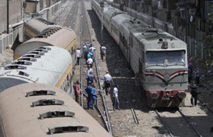 توقف حركة قطارات خط دسوق دمنهور بعد خروج عربة من شريط السكة الحديد