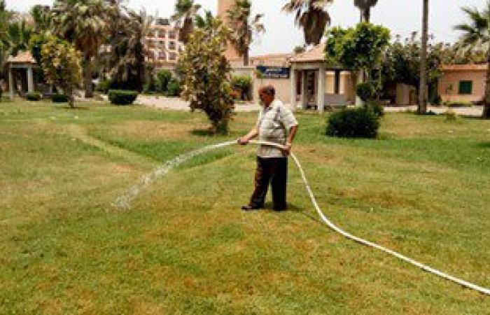 اليوم.. حى العجمى يواصل أعمال صيانة الحدائق استعدادا لاستقبال موسم الصيف
