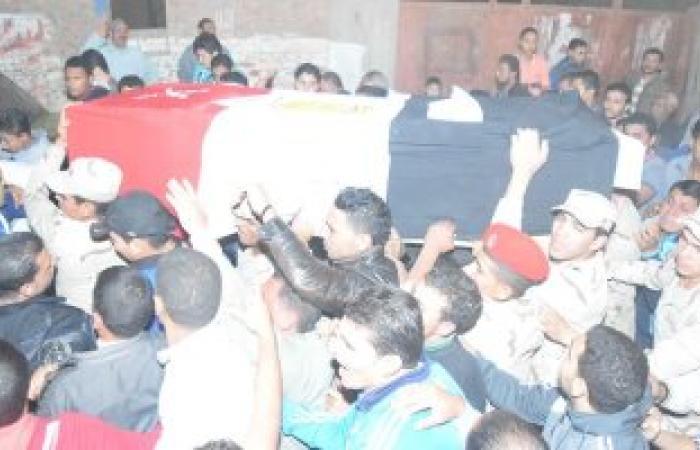 تشييع جثمان شهيد الشيخ زويد بنبروه