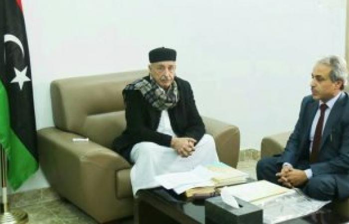 رئيس مجلس النواب الليبى يتسلم التقرير السنوى لديوان المحاسبة