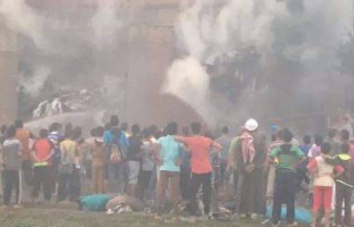 السيطرة على حريق سوق الجمعة بالسيدة عائشة دون إصابات