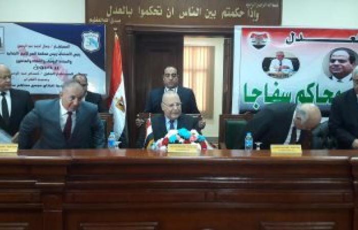 بالصور.. وزير العدل: ميكنة 75 محكمة بينها 6 اقتصادية