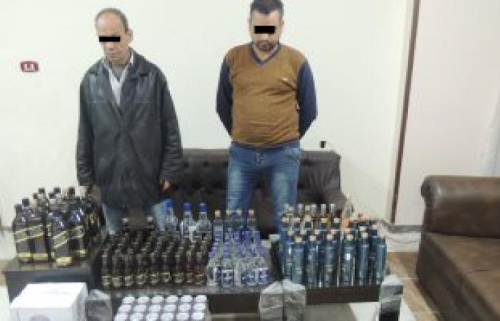 """مباحث الآداب تضبط 2500 زجاجة """"ويسكى"""" داخل محل خمور بدون ترخيص بمدينة نصر"""