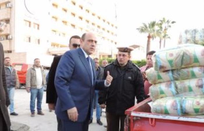 بالصور.. مديرية أمن دمياط تطرح 20 طن أرز وسكر بأسعار مدعمة فى منافذ أمان