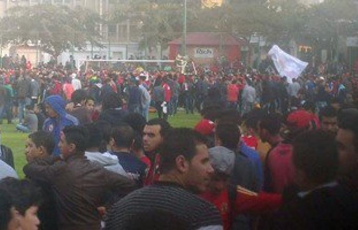 بدء تجمع الألتراس عند محطة الأوبرا استعداداً لحضور مران الأهلى