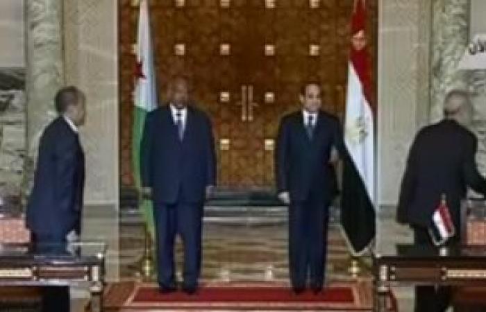 السيسي: مباحثاتى مع رئيس جيبوتى مثمرة.. وسنرتقى بالنشاط الاقتصادى