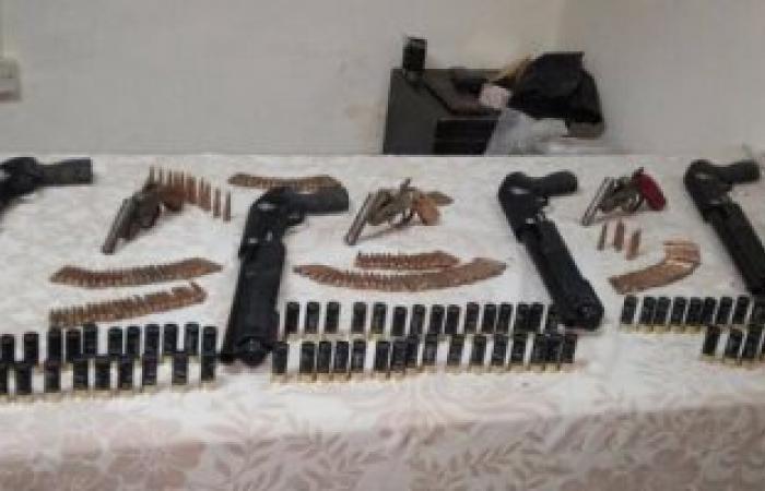 حبس عامل 4 أيام لحيازته 3 قطع أسلحة نارية وذخيرة فى الشرابية