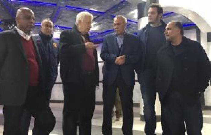 بالصور.. مرتضى منصور يستقبل رئيس الإسماعيلى وأعضاء مجلسه بمقر الزمالك