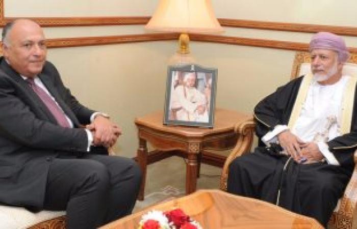 سامح شكرى يبحث مع نظيره العمانى الأزمة اليمنية ودعم التسوية السياسية