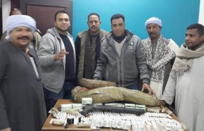 القبض على تاجر مخدرات بحوزته 33 كيلو بانجو وحشيش للاتجار بها بإسنا