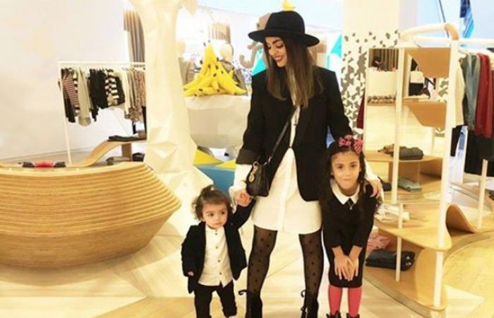 دارين الياور بإطلالات مرحة مع أبنائها