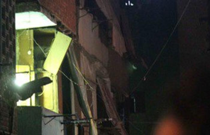 انهيار جزئى بمنزل مكون من 4 طوابق بسبب تسرب غاز  بسوهاج