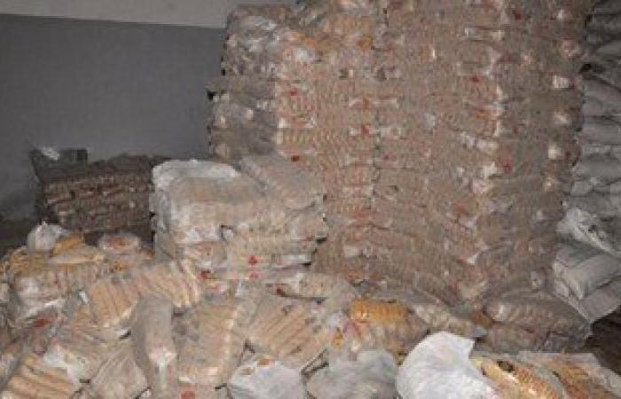 ضبط 25 طن مكرونة و 10 طن أرز بدون مستندات بالغردقة