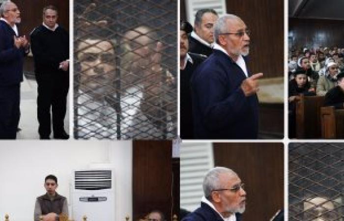 """بدء نظر محاكمة محمد بديع و682 آخرين بـ""""أحداث العدوة"""""""