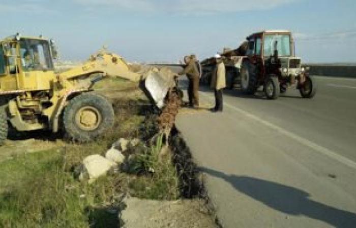 إزالة 12 حالة  تعدى على الأراضى الزراعية وأملاك الدولة بالبحيرة