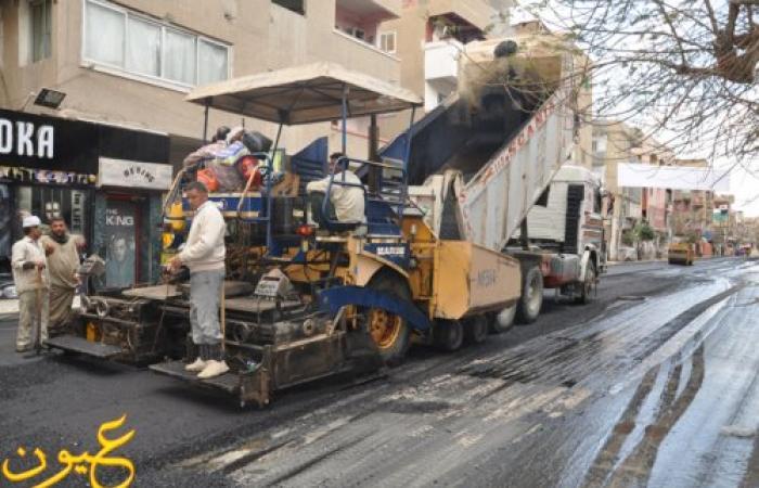 بالصور : إتاحة  35 مليون جنيه لرصف شوارع بني سويف