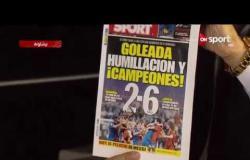 كلاسيكو الأرض - ديداك بيريت يعرض بعض أغلفة جريدة سبورت الخاصة بمباريات كلاسيكو سابقة