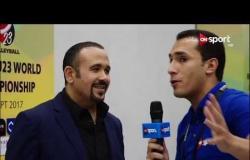 لقاء خاص مع المطرب هشام عباس عقب حفل افتتاح بطولة العالم للطائرة تحت 23 عام