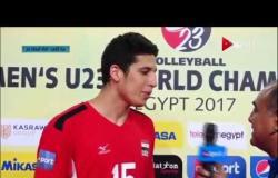 مونديال شباب الطائرة - تصريحات عبد الرحمن سعودي لاعب منتخب شباب الطائرة عقب الفوز على الصين