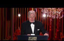 مهرجان القاهرة السينمائي - النجم حسين فهمي وتقديم أعضاء لجنة هيئة التحكيم مهرجان القاهرة السينمائي