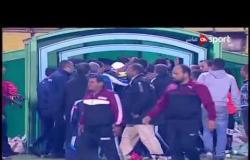 ستاد مصر - اشتباكات عنيفة بين لاعبي المقاولون وإنبي عقب انتهاء مباراة الفريقين بالدوري
