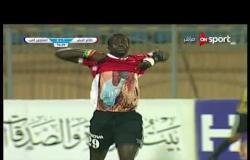 تالا نداى يحرز الهدف الثانى لفريق طلائع الجيش فى مرمى المقاولون العرب فى الدقيقة 57 من زمن المباراة
