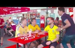 حصرياً لـ من روسيا مع التحية.. جمهور السويد يتوقع مباراة تاريخية بين مصر وروسيا