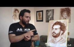 صلاح بالشيكولاتة والعلكة.. آخر إبداعات رسام مصري شاب