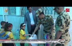 عناصر من القوات المسلحة والشرطة تصطحب أبناء الشهداء في الأسبوع الأول من الدراسة