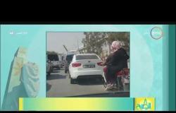 8 الصبح - فيديو لشاب يسوق تروسكل وسائقي سيارات يخفون أرقام العربية