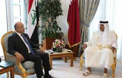 برهم صالح يدعو قطر لبناء منظومة علاقات مشتركة