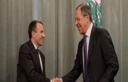 لافروف وباسيل يبحثان تكثيف جهود إعادة اللاجئين السوريين إلى وطنهم