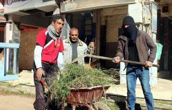بمشاركة ضباط وجنود روس... أهالي درعا يطلقون أكبر حملة لتنظيف مدينتهم (صور)