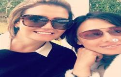 شاهد  هنا شيحة تحتفل بعيد ميلاد نجلها مع شقيقتها حلا