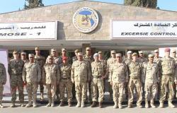 """استمرار فاعليات التدريب المشترك المصري البريطاني """"أحمس -1"""" وقائد القوات البريطانية بقبرص يتفقد مراحل التدريب"""