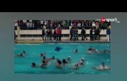 """لقطات خاصة من """"خناقة"""" كرة الماء بين الأهلي والجزيرة.. وتعليق سيف زاهر"""
