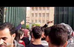 زحام و مشاجرات بين الأمن وطلاب جامعة القاهرة بسبب حفل حماقي