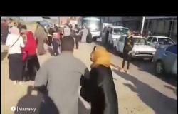 اللقطات الأولى لخروج قطار عن القضبان في كفر الشيخ