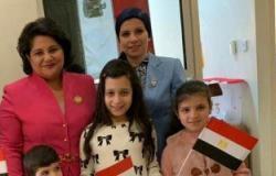 صور.. سفيرة مصر فى قبرص تدلى بصوتها فى التعديلات الدستورية