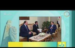 8 الصبح - السيسي يلتقي رئيس جهاز الأمن و المخابرات الوطني السوداني ويؤكد دعم مصر للسودان