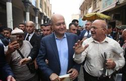 الرئيس العراقي يصل الأردن في زيارة رسمية