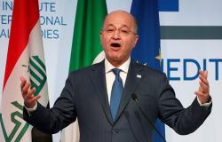 الرئيس العراقي يستقبل وزير الخارجية الإيراني والوفد المرافق له ببغداد