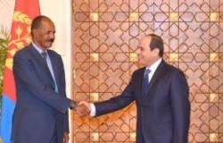 رئيس إريتريا يغادر القاهرة عقب لقاء الرئيس السيسي