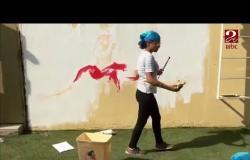 طالبة 16 عاماً ترسم محمد صلاح على حائط مدرستها ..شاهد التفاصيل #صباحك_مصري